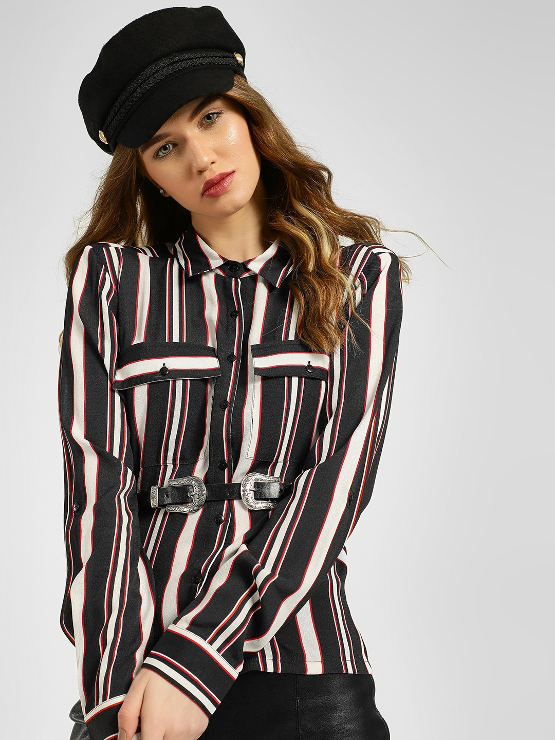 KOOVS Multi Striped Long Sleeve Shirt 1