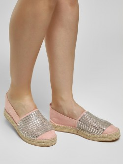 KOOVS Diamante Embellished Stacked Espadrilles