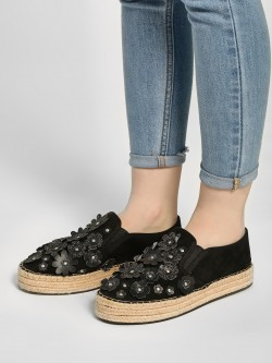 KOOVS Flower Embellished Stacked Espadrilles