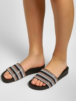 KOOVS Diamante Embellished Slides