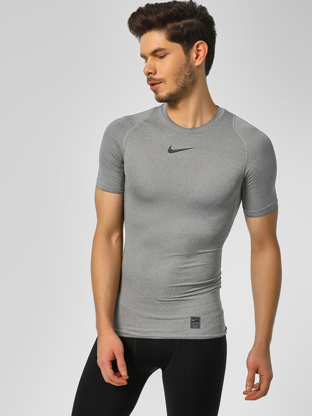 Nike Grey Pro Short Sleeve Compression Tee 1