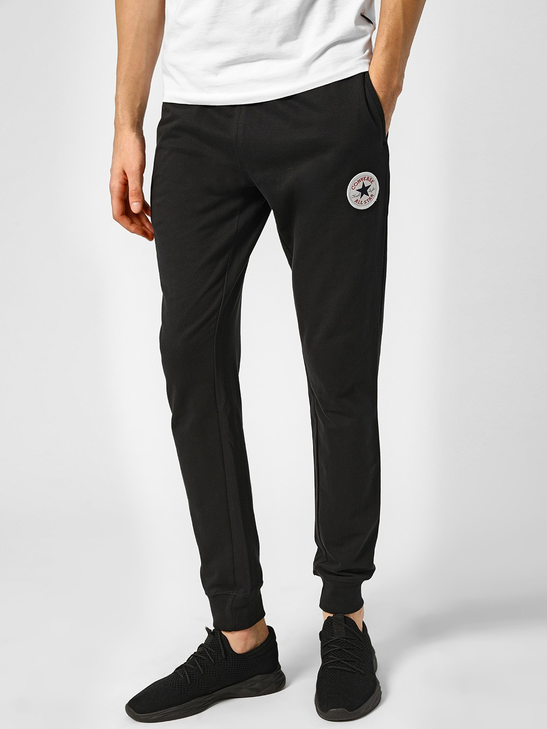 Converse Black Basic Drawcord Track Pants 1