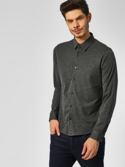 Indigo Nation Melange Slim Fit Knitted Shirt