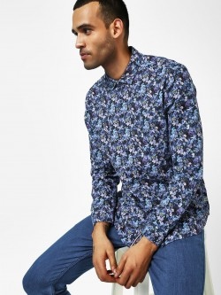 Indigo Nation Floral Printed Casual Shirt
