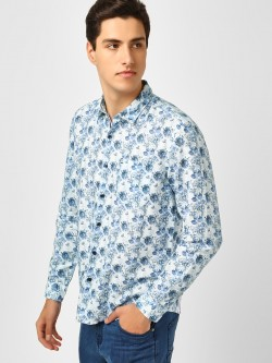 Indigo Nation Floral Print Slim Fit Shirt