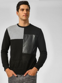 Indigo Nation Basic Colour Block Print Sweatshirt