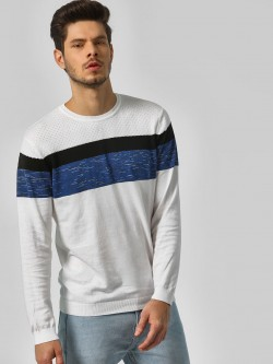 Indigo Nation Colour Block Regular Sweatshirt