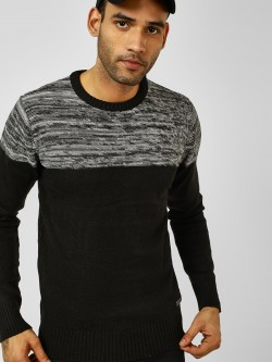 Brave Soul Colour Block Knitted Pullover
