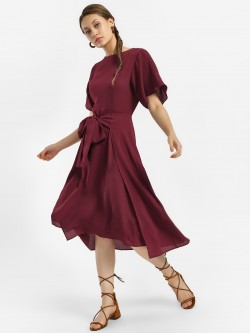 KOOVS Tie-Up Midi Dress