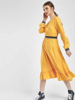 KOOVS Frilled Hem Shift Dress