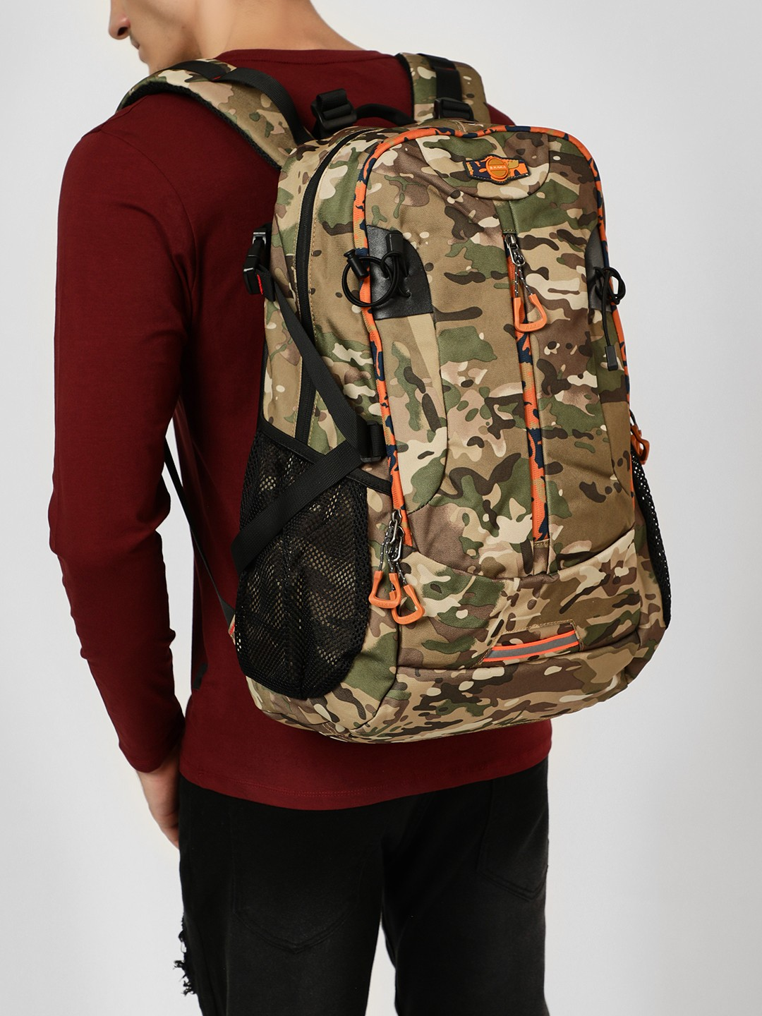 KAKA Multi Camo Print Oversized Sports Backpack 1