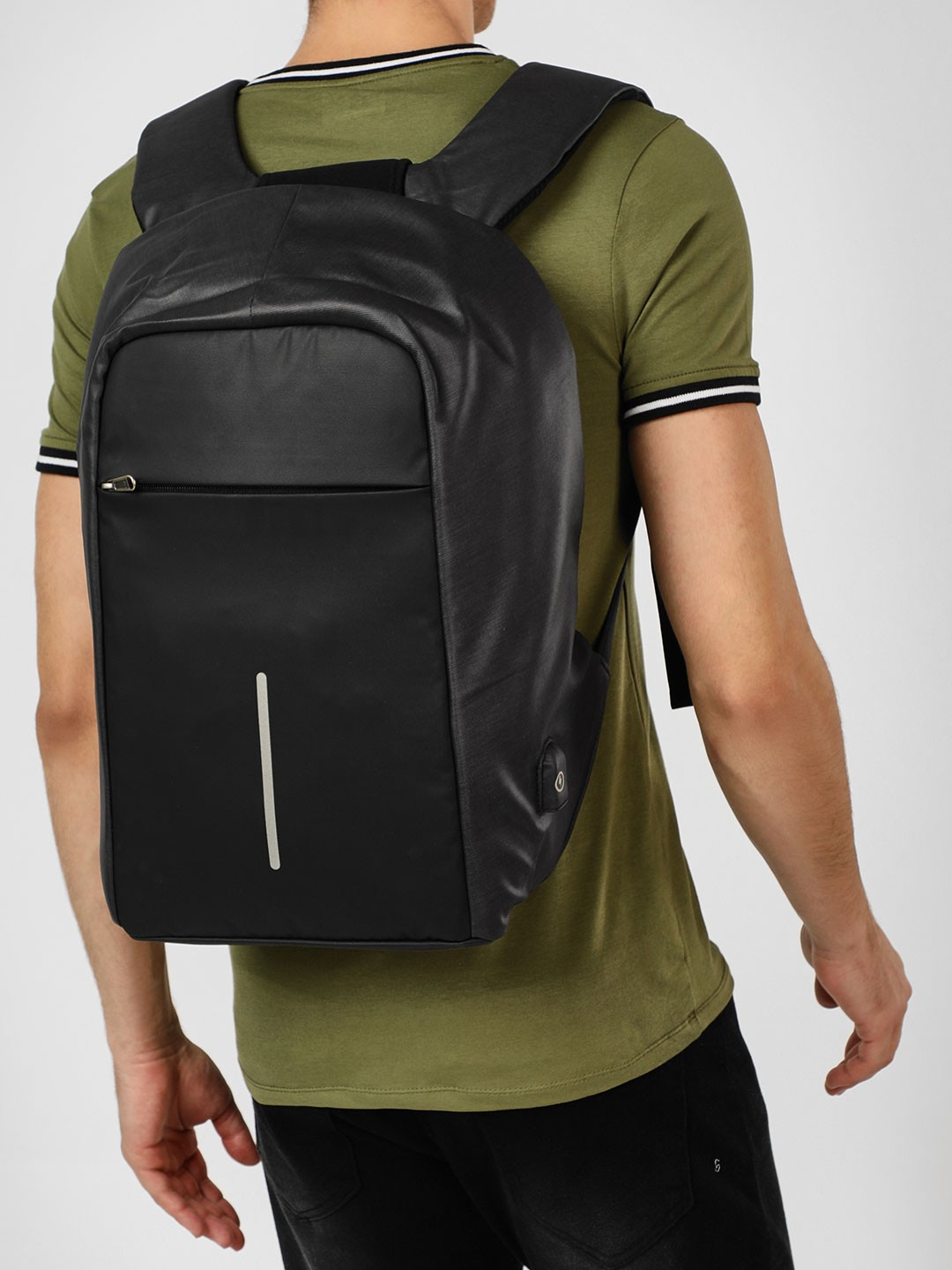 KAKA Black USB Anti-Theft Backpack 1