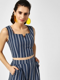 Closet Drama Vertical Striped Crop Top