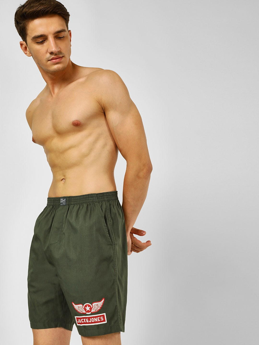 Jack & Jones Green Union Jack Printed Boxers 1