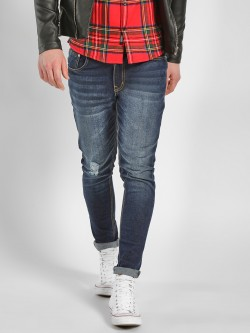 K Denim KOOVS Knee Ripped Skinny Jeans