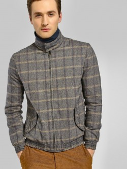 KOOVS Pow Check Long Sleeve Jacket