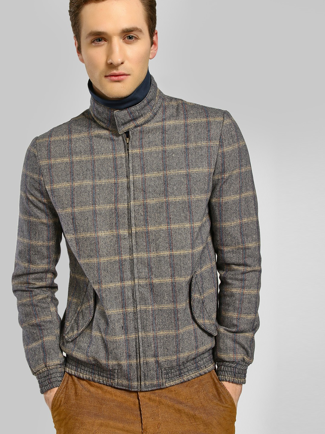 KOOVS Multi Pow Check Long Sleeve Jacket 1