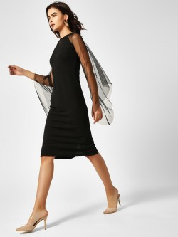 AND Mesh Cape Bodycon Dress