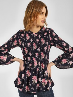 RIG Floral Printed Flared Sleeve Blouse