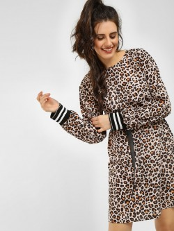 KOOVS Leopard Print Shift Dress