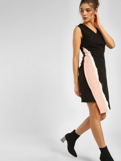 KOOVS Colour Block Asymmetric Dress