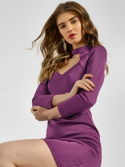 KOOVS Choker Neck Bodycon Dress