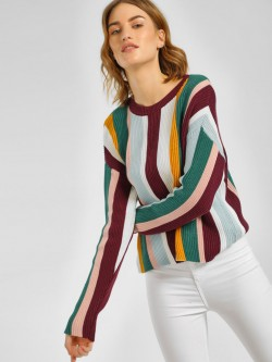 New Look Colour Block Striped Jumper