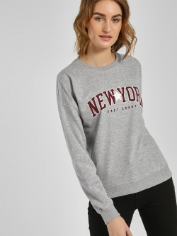 New Look Slogan Print Casual Sweatshirt