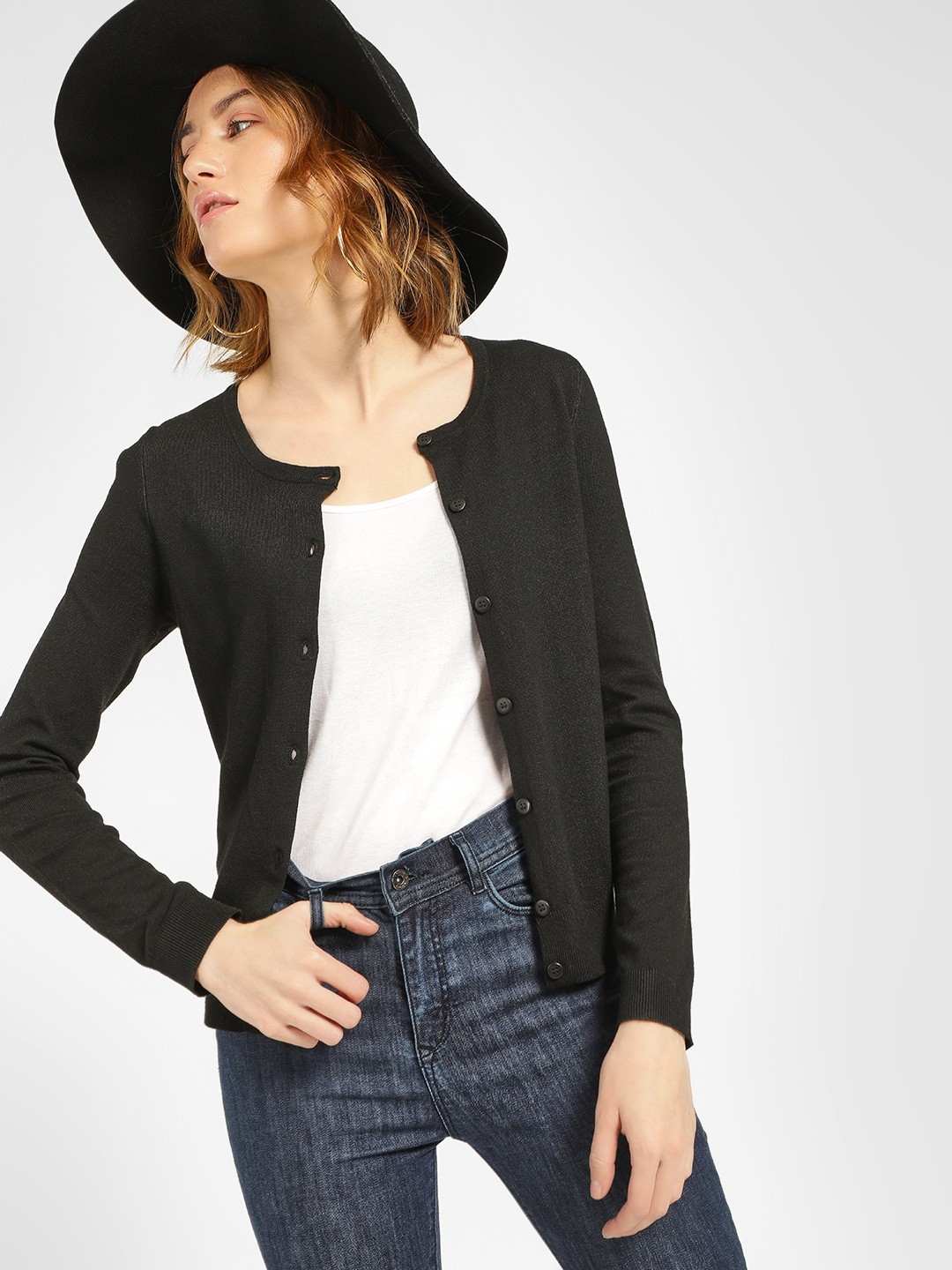 New Look Black Basic Cardigan 1