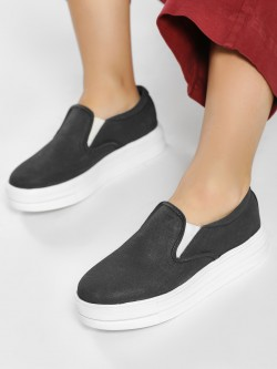 KOOVS Basic Slip-On Flatform Shoes