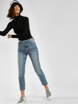 Sbuys Mid Wash Crop Slim Jeans