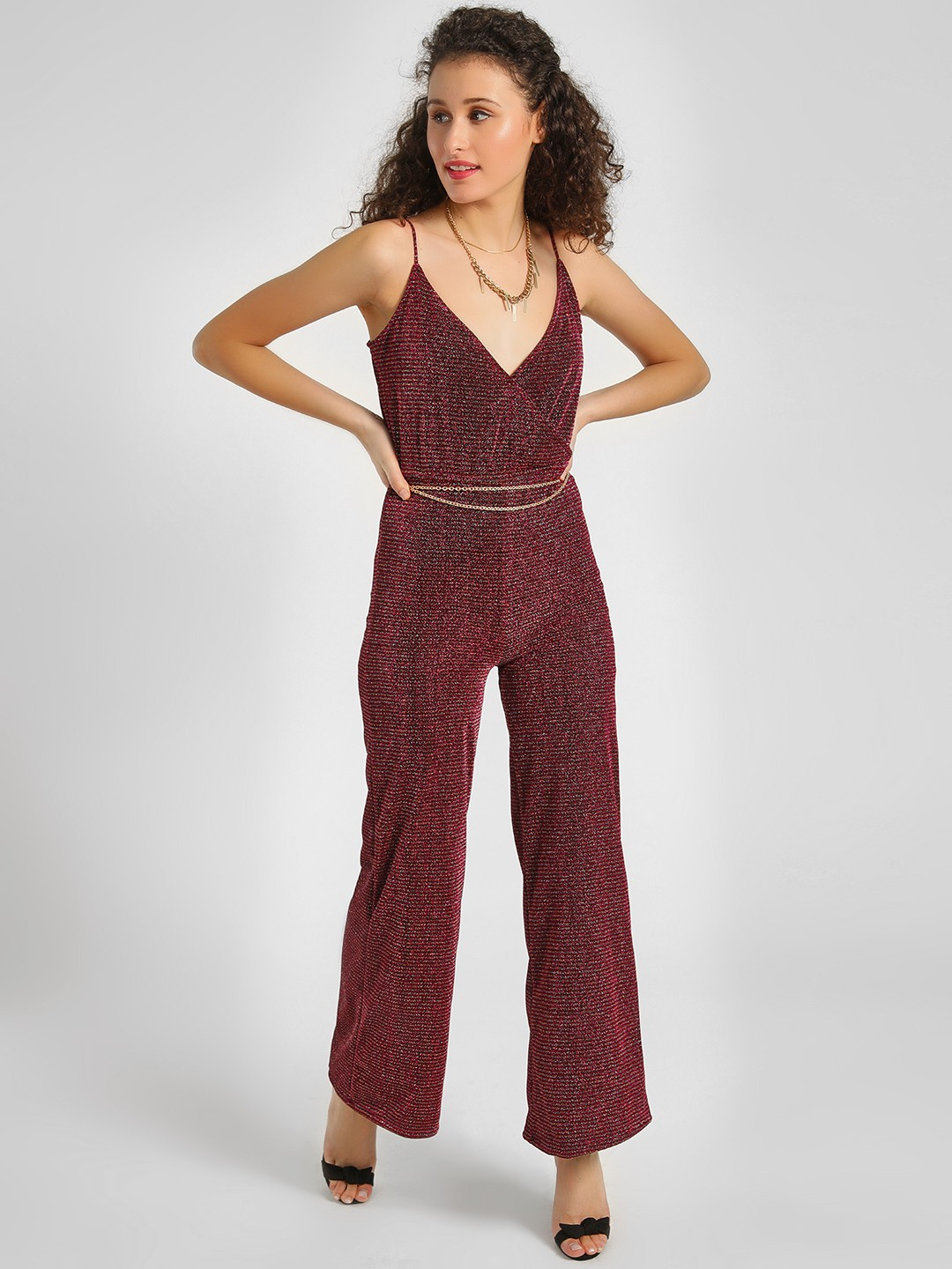 KOOVS Multi Shimmer Detail Strappy Jumpsuit 1