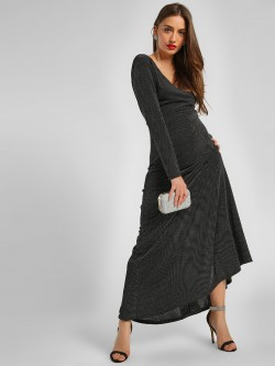 KOOVS Shimmer Detail Maxi Dress