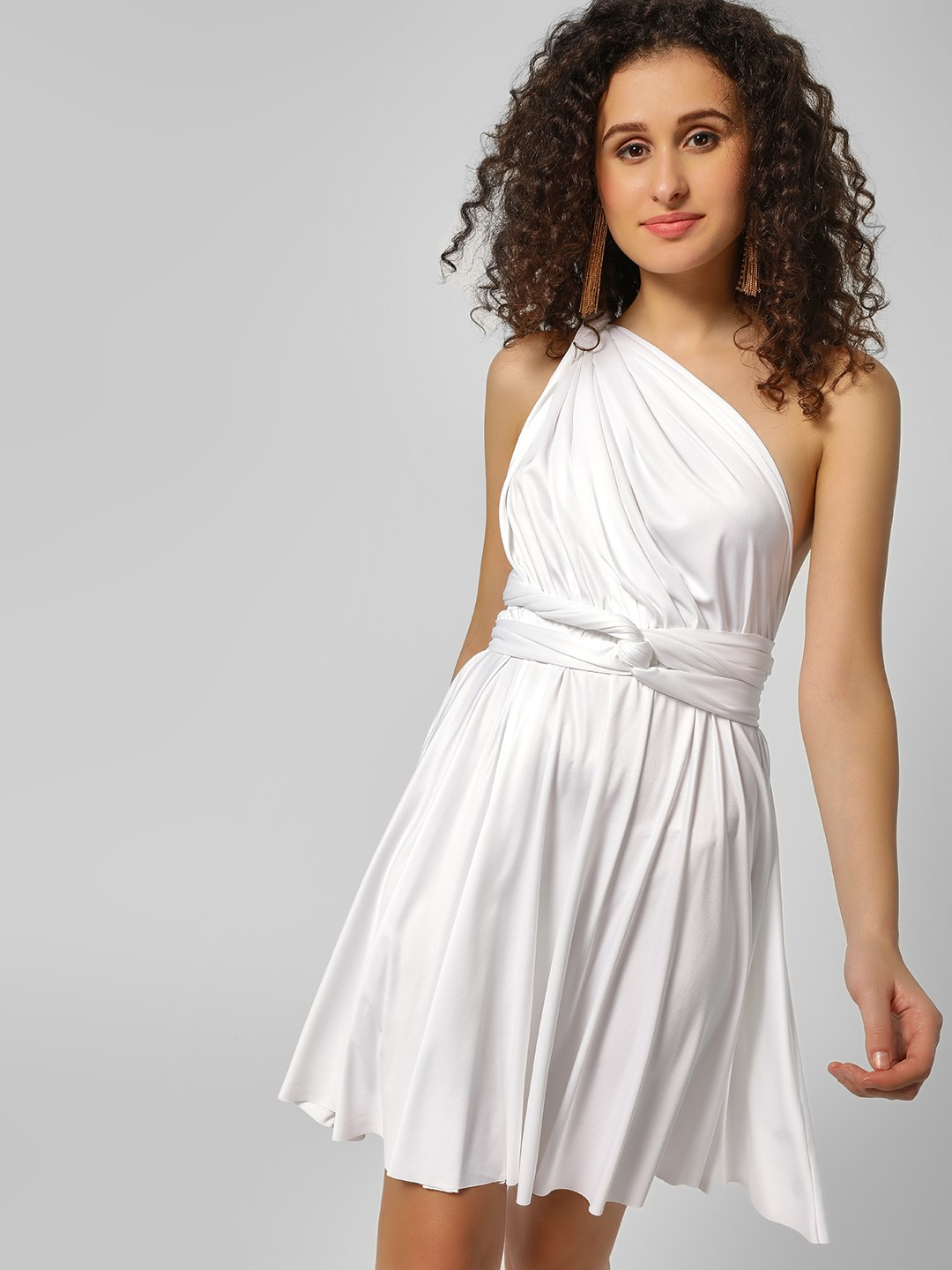 Origami Lily White Infinity Wrap Shift Dress 1