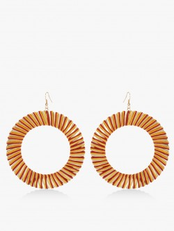 Blueberry Concentric Statement Earrings