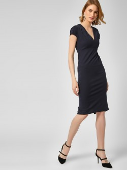 New Look V Neck Midi Dress