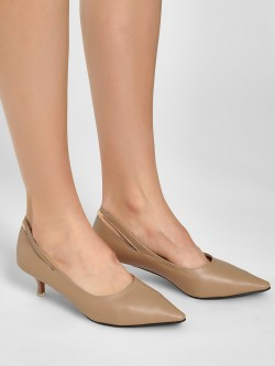 Sole Story Slit Slingback Kitten Heel Pumps
