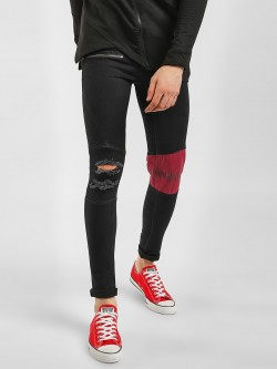 Kultprit Panelled Distressed Skinny Jeans