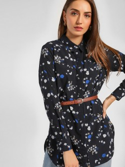 Femella Midnight Floral Print Shirt