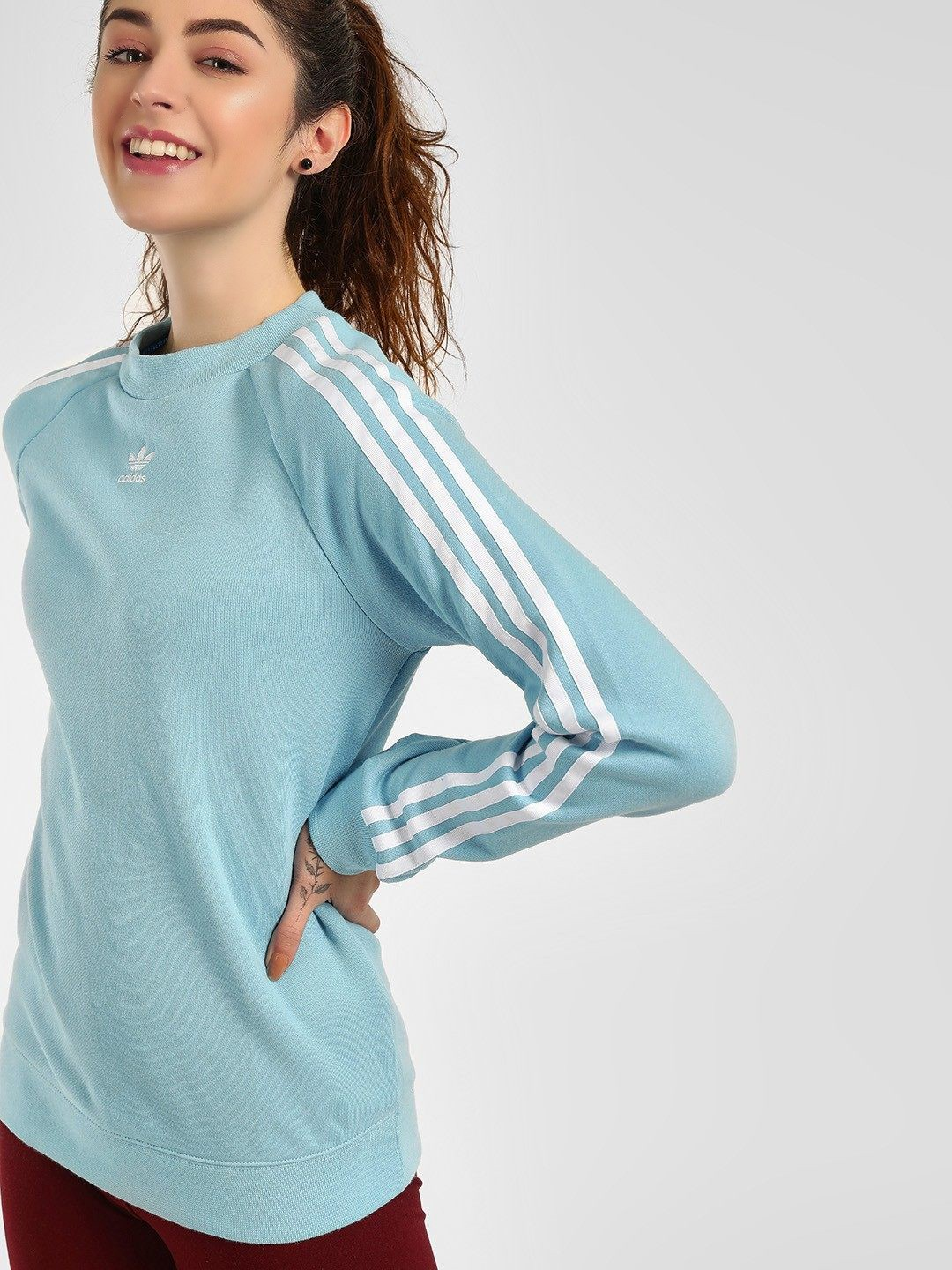 Adidas Originals Blue Trefoil Sweatshirt 1