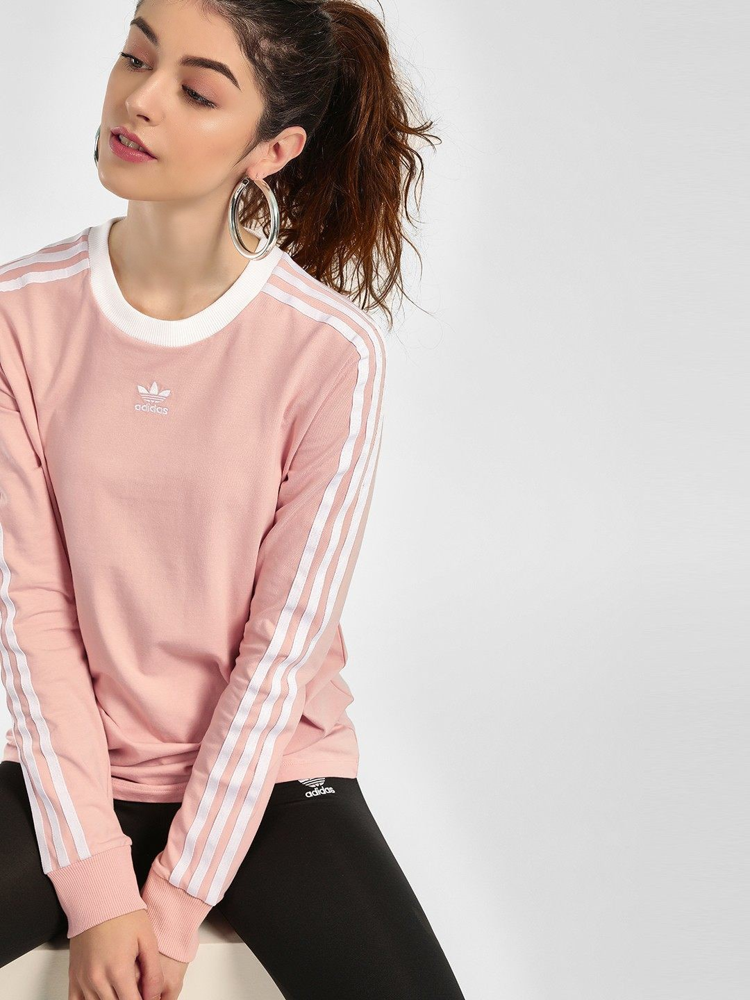 Adidas Originals Pink 3 Stripes T-Shirt 1