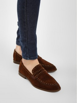 KOOVS Suede Studded Loafers