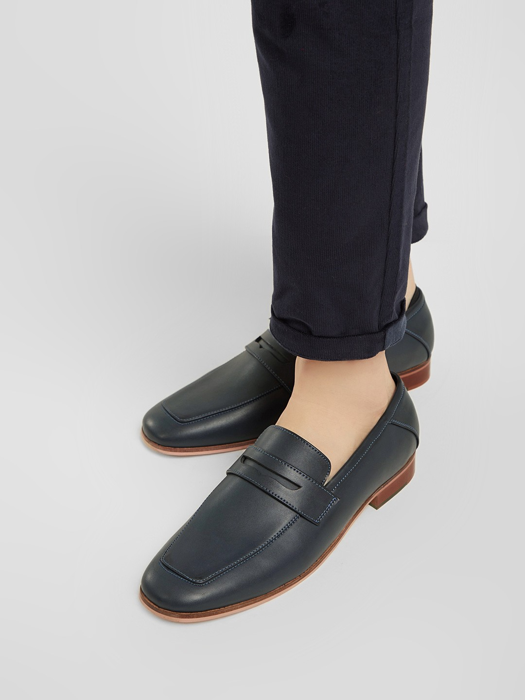 KOOVS Blue Town Loafers 1
