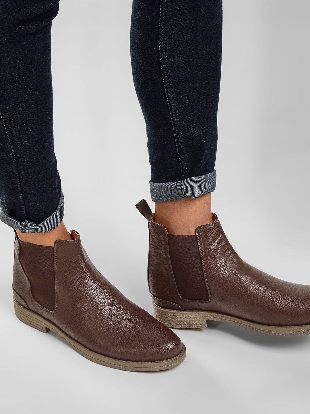 KOOVS Brown Chelsea Boots 1