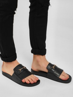 KOOVS Horsebit Sliders