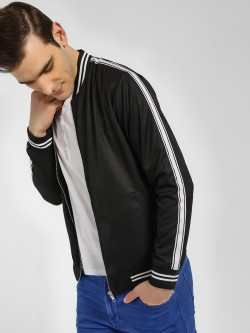 KOOVS Side Tape Varsity Bomber Jacket