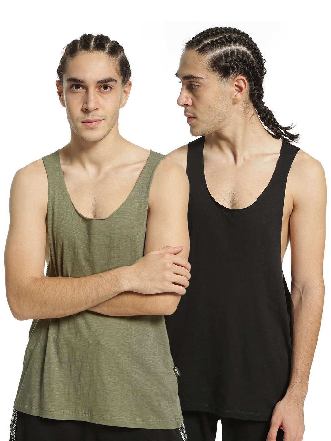 KOOVS Multi Raw Edge Racerback Vest (Pack Of 2) 1