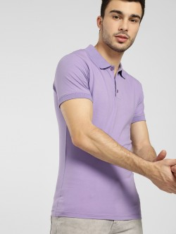 KOOVS Basic Muscle Fit Jersey Polo Shirt