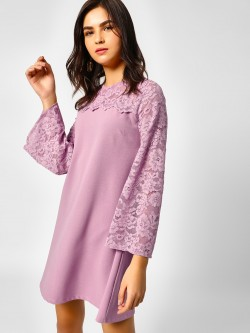 Cover Story Lace Detail Shift Dress
