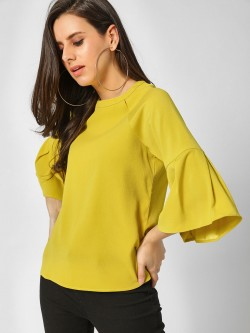 Cover Story Flared Long Sleeves Top